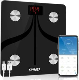 RENPHO Bluetooth Body Fat Scale USB Rechargeable Smart Digit