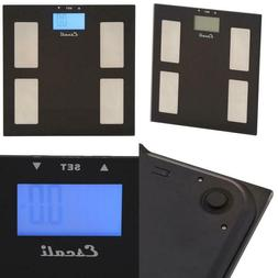 Digital Glass Body Fat, Water And Muscle Mass Scale