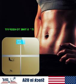 Electronic Digital LCD Bathroom Scale Glass Body Weight Scal