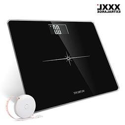 Extra-Wide/Ultra-Thick Digital Body Weight Bathroom Scale wi