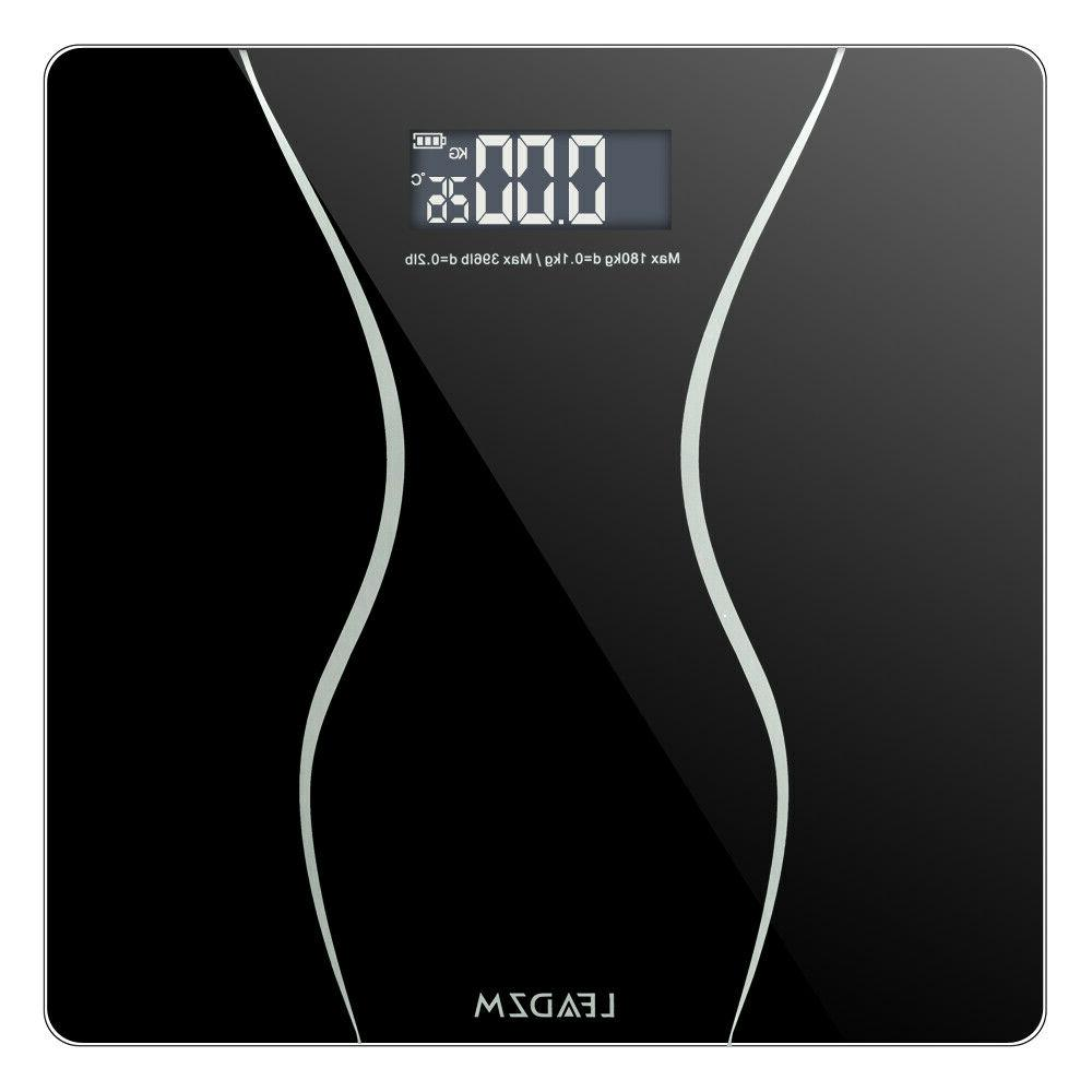 397lb 180kg LCD Digital Bathroom Body Weight Scale Tempered