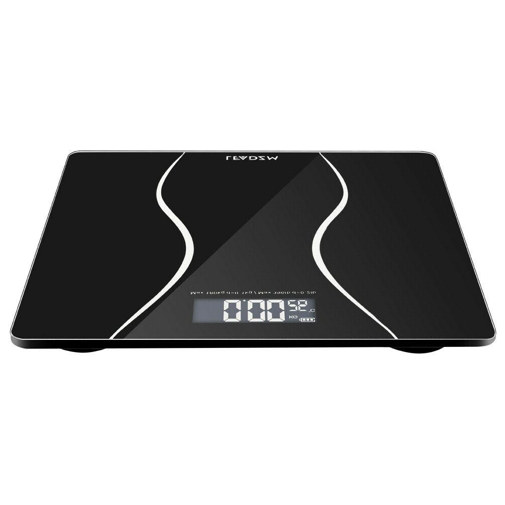 397lb LCD Digital Bathroom Body Scale Tempered Glass 2x Batteries