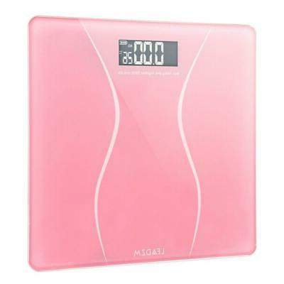 Bathroom Scales Personal Body Scale LCD 400lb x Battery