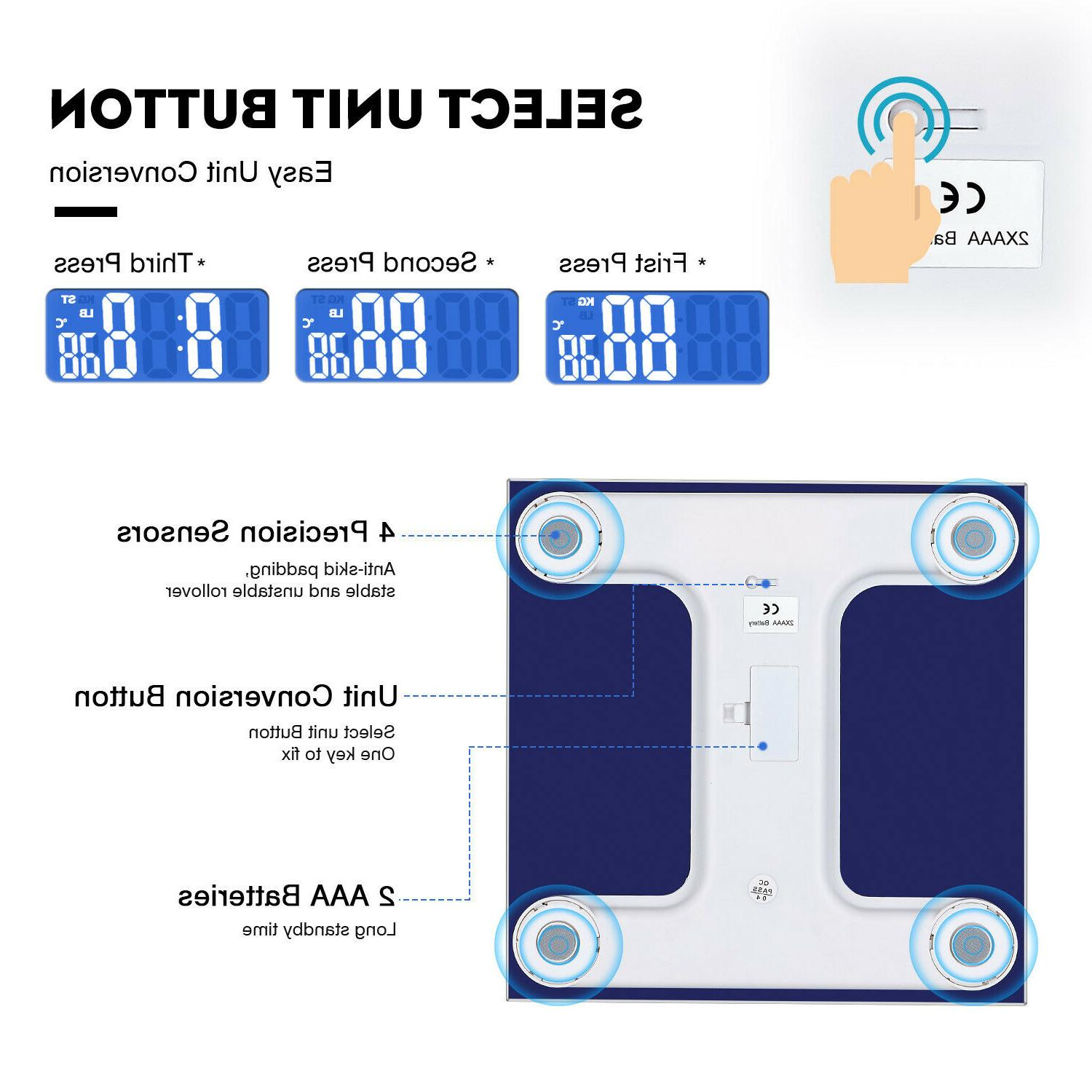 Digital Weight Bathroom Scale with LCD Display