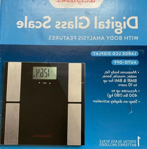 digtal glass scale with body analysis features