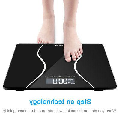 LCD Glass Bathroom Body Weighing Scales