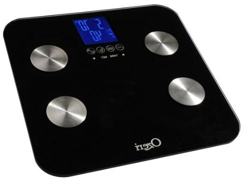 Ozeri Touch lb Digital - Measures Body Fat, Hydration, & Mass w Auto Recognition for