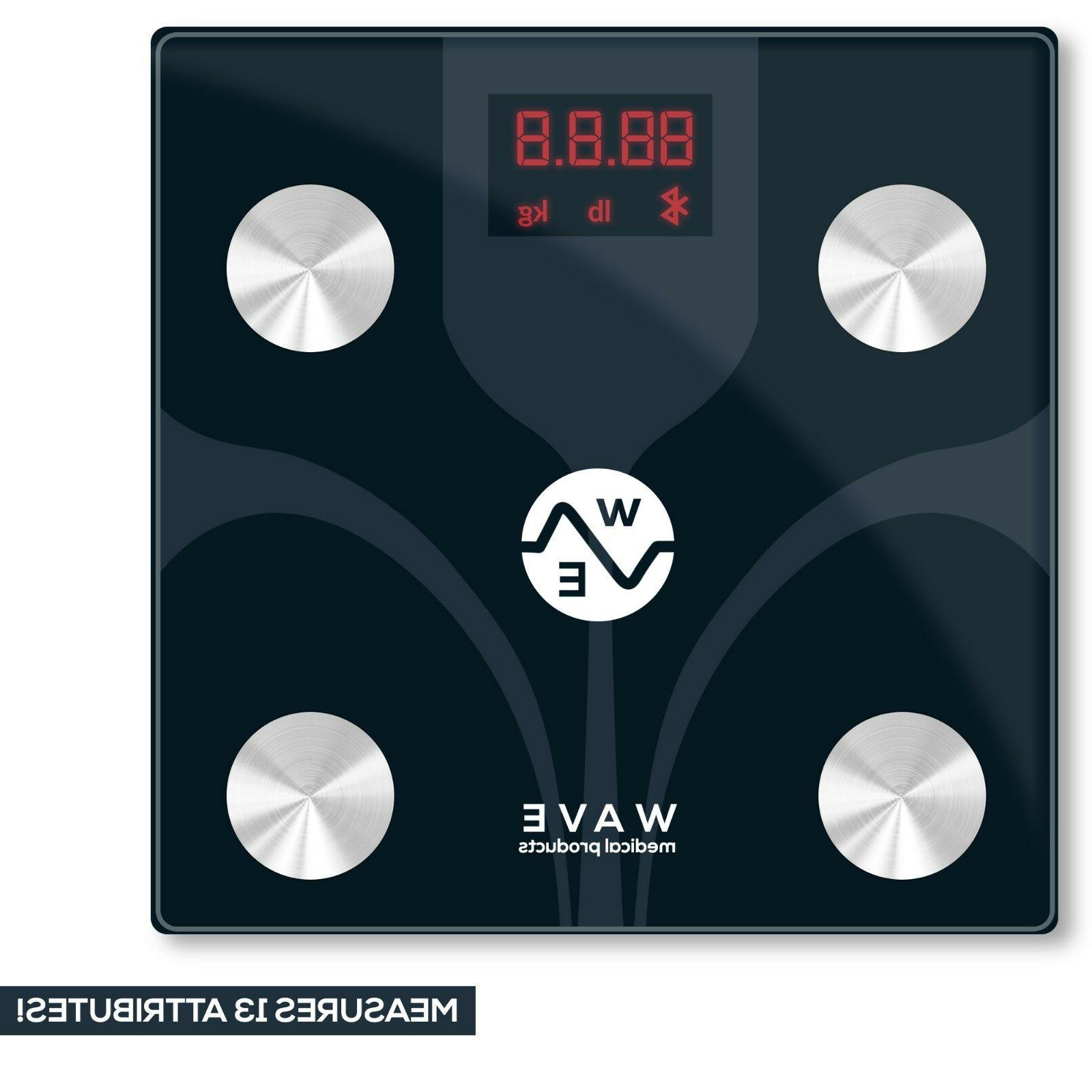 WAVE MEDICAL Advanced Bluetooth Smart Body Scale Smartphone
