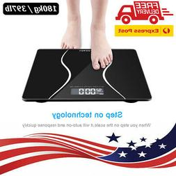 LCD Digital Electronic Personal Glass Bathroom Body Weight W