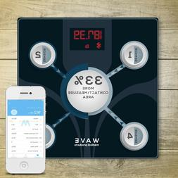 WAVE MEDICAL Advanced Bluetooth Smart Body Fat Bathroom Scal