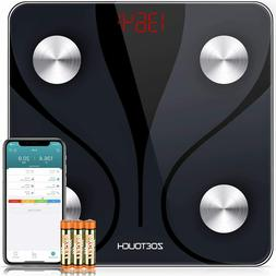 ZOETOUCH Bluetooth Body Fat Scale W Ios & Android App Smart